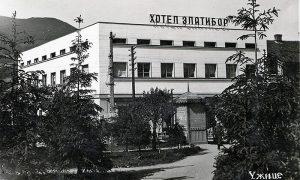 """Renovirani Hotel """"Zlatibor"""" sa drugom užičkom svetlećom reklamom na krovu"""
