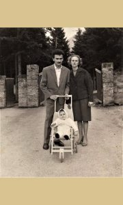 Mališa Đedović sa ženom Ljubom i ćerkom Gordanom