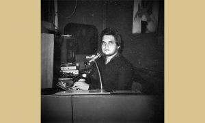 Predrag Kovačević Kovač 1978. godine u kabini OK kluba