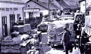 Nemačka sila ulazi u Užice na Carini