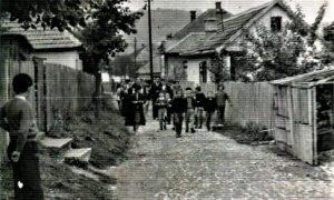 Ulica Jakšićeva na Rosuljama 1962. godine