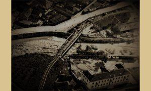 Železnički most u Omladinskoj ulici 1936. godine