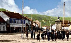Tek izgrađena česma Opančarskog esnafa postavljena na tački geografskog centra Užica
