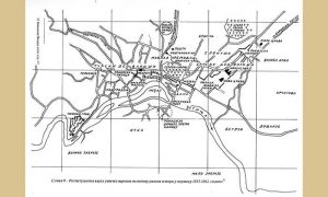 Restituciona karta užičke varoši na osnovu raznih izvora u periodu 1815-1862. godine