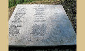 Spomen ploča sa imenima izginulih branioca Užica aprila 1941.