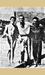 U sredini prvi izabrani sportista grada, Dragoš Vajević plivač 1962. god.