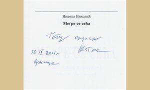 Posveta od inspektora Megrea u njegovoj knjizi