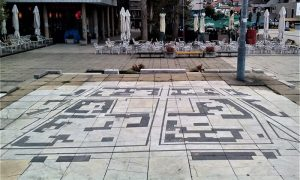 Mermerni mozaik na Trgu partizana