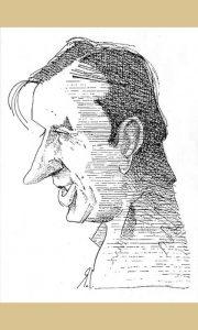 Rade Jovanović Vrabac karikartura
