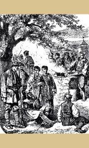 Kanicov crtež na kome je zabeležen jedan guslar u Užicu sredinom 19. veka