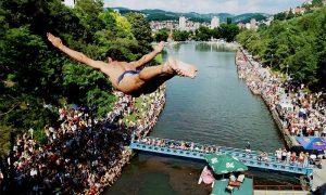 Skok sa mosta sa 16 metara (foto D. Karadarević)