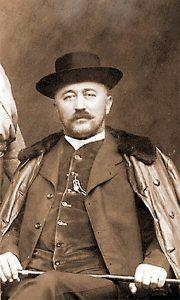 Aleksa Popović u vreme kad je kupio prve užičke čeze