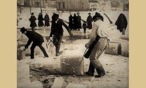 Led se vadio na bari u Begluku, gde je bilo i klizalište