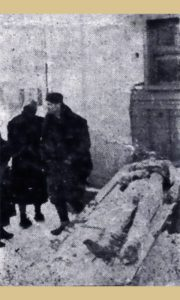 Telo Vojna Petroviće izloženo na Žitnom pijacu 1942. godine
