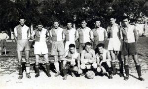 Užički Sporski Klub Sloboda 1946, s desna: 2. Mihajlo Vasović, 4. Antun, Tonđo, Tezul