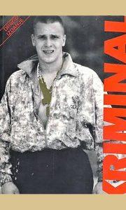 """Aleksandar Knežević Knele na naslovnoj stranici njegove koautorske knjige """"Kriminal koji je promenio Srbiju"""""""