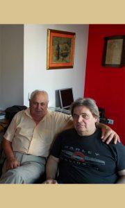 Sa Petrom Tešićem 2013. godine