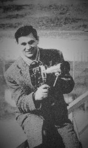Mladi Petar Tešić na početku karijere TV Beograd