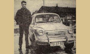 Šampion u nacionalnoj klasi Prvoslav Šmakić Šmaka sa svojom fićom