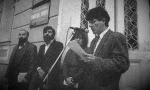 Prvi posleratni protesti u Srbiji su bili ispred zgrade užičke opštine