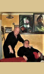 Boško sa svojim kumom, pounatim nacionalistom Kavajom (foto Dragan Jovanović Jovana)