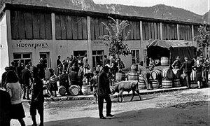 Deo Užica gde je bila opančarska radnja Pera Bakića