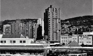 Centar Užica 1970. kada je počelo rušenje dela gde će biti sagrađen blok Zlatibor