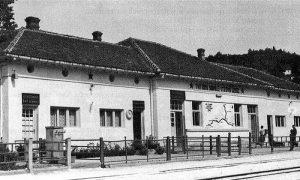 Užička železnička stanica tokom šezdesetih godina 20. veka