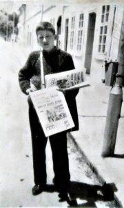 Najmlađi užički prodavac novina Milan Smiljanić