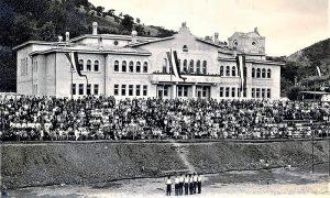 Sokolski dom, užički hram sporta i kulture, sokolski slet ispred