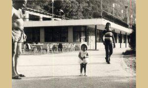 Restoran Plaža 1966. godine sa malom Gocom Majdov