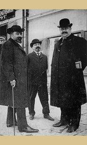 Živojin Balugdžić, ministar dvora kralja Petra I, Mile Pavlović - Krpa, profesor gimnazije i Svetolik Jakšić, novinar (foto Marko Stojanović)