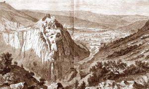 Originalan Kanicov crtež užičkog grada iz 1862. god.