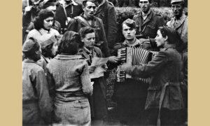 Deo kulturne čete sa zbegom na Vardi 1944.