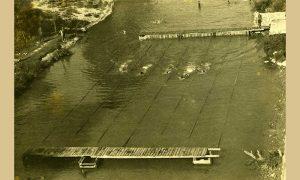 Drveno plivalište kod stare centrale 1955.god.