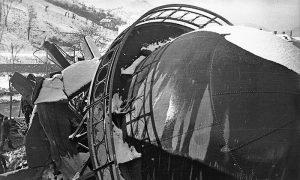 Srušeni vodotoranj 1944. god.