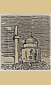 "Uvećana džamija - crkva ""Ružica"" sa Kanicovog crteža Užica iz 1864."