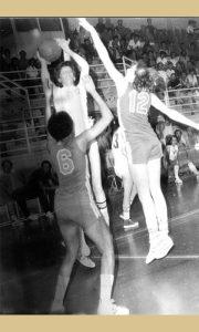 Sa jedne košarkaške utakmice košarkašce KK Sevojno, Drinka u akciji
