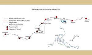 Trasa pruge Višegrad - Užice sa izdvojenom jedinstvenom Šarganskom osmicom