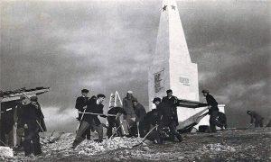 Na Ječkovu incijativu podignuta je piramida spomenik na Kadinjači