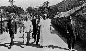 Delegacija iz Sijera Leone, mnogi Užičani su tada po prvi put videli crnce