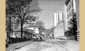 Ulica Heroja Dejovića u prvoj polovini sedamdesetih godina 20. veka
