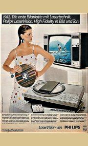 Reklama za LaserVision gramofon i ploče