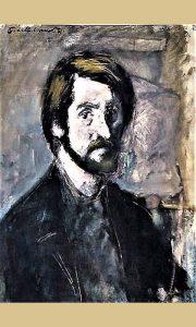 Mladi akademski umetnik Božo Kovačević, autoportret
