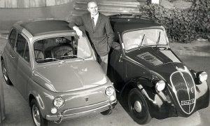 Genijalni konstruktor Dante Đakoza između Topolina 500 i Fijata 500