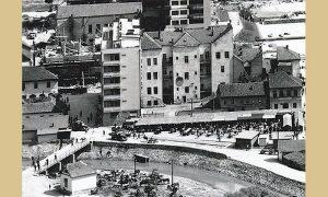 Zeleni pijac 1963. i kad se pređe preko Đetinje u Međaj Stočni pijac
