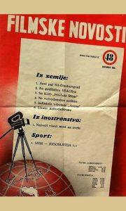 Plakat Filmskih novosti iz 1964. godine