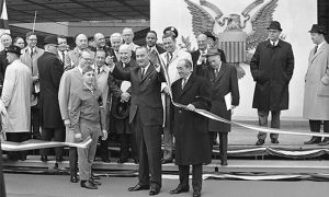 Predsednik SAD L. Džonson na svetskoj izložbi u Njujorku