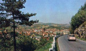 Pogled sa Zlatiborskog puta na Užice, jul 1966. god.