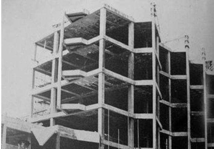 """Početak granje bloka """"Zlatibor"""" u čijem sklopu je bio ekspres restoran"""